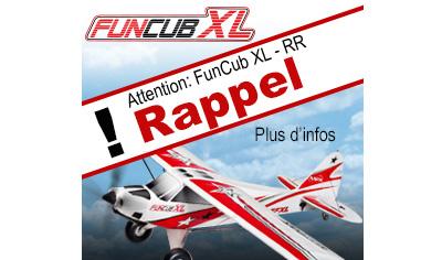 Rappel Multiplex FunCub XL RR - référence 26 4331